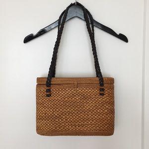 Bags - Vintage Straw Basket Bag